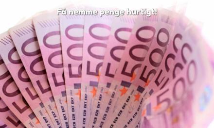 Få nemme penge hurtigt!
